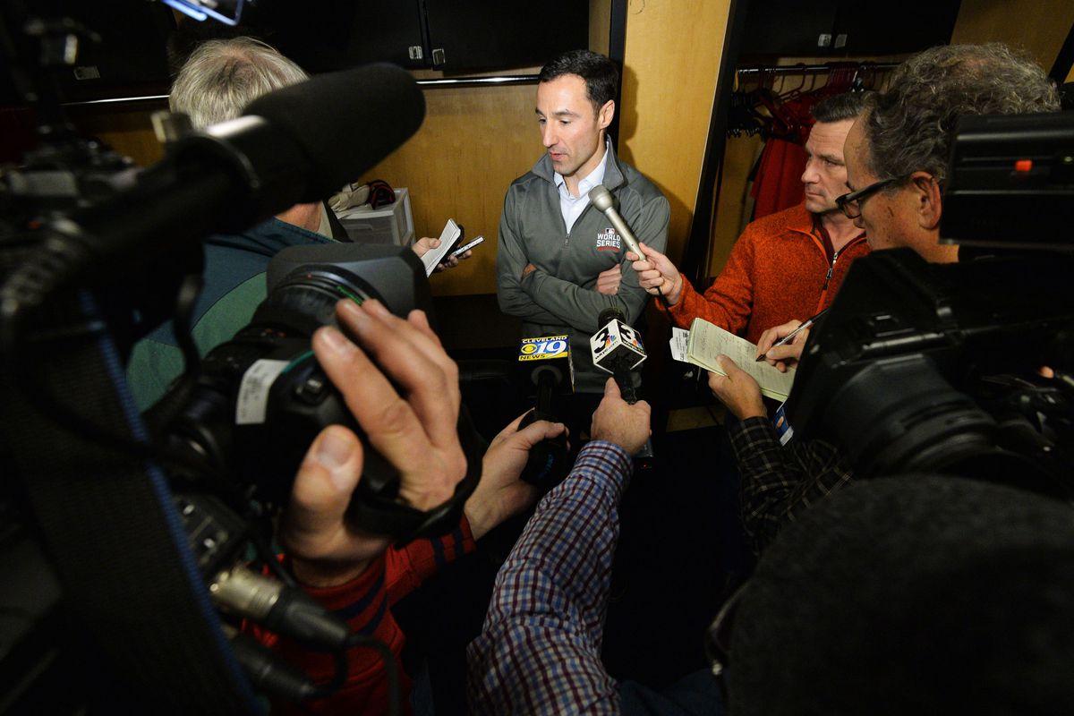 MLB: Cleveland Indians-Edwin Encarnacion Press Conference