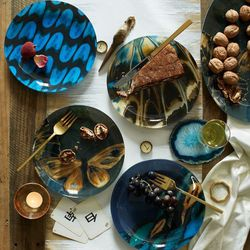 """Butterfly Glass Plates, <a href=""""http://www.westelm.com/products/butterfly-glass-plates-d1426/?pkey=e