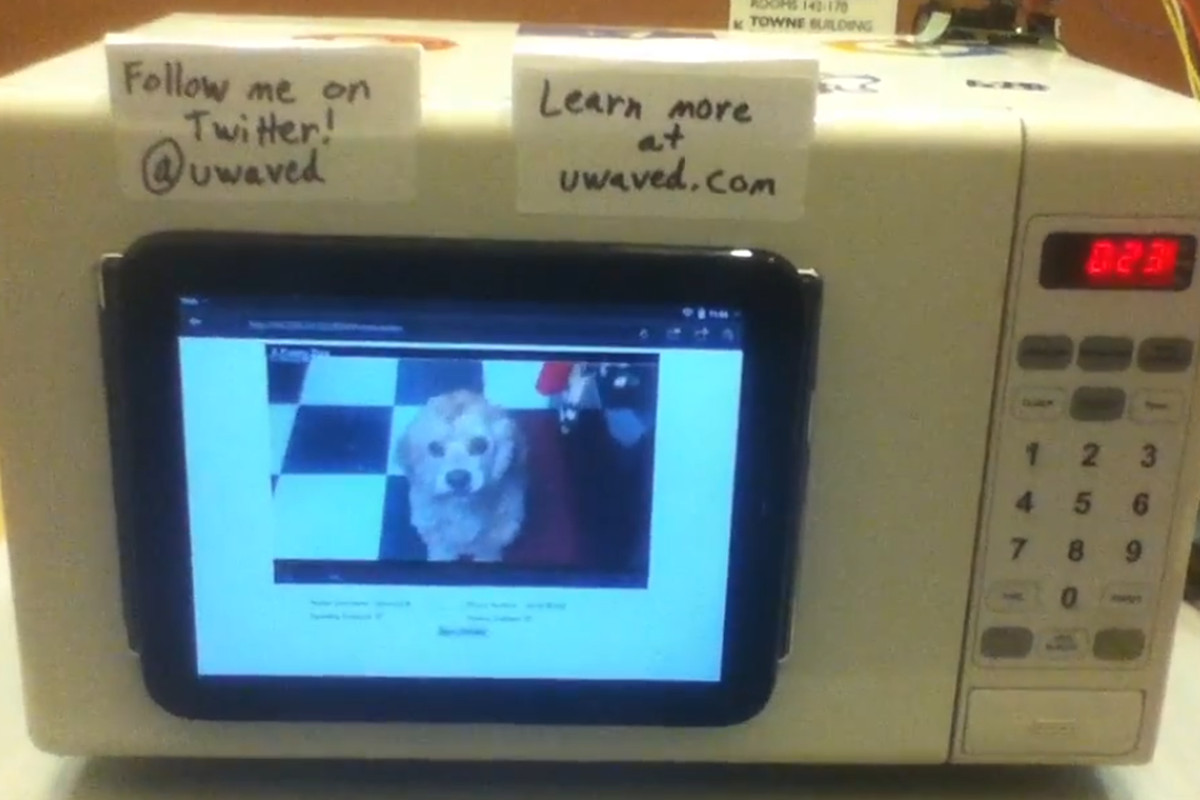 Microwave hack uses arduino and touchpad to play perfectly