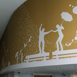 The mural at Pinkberry.