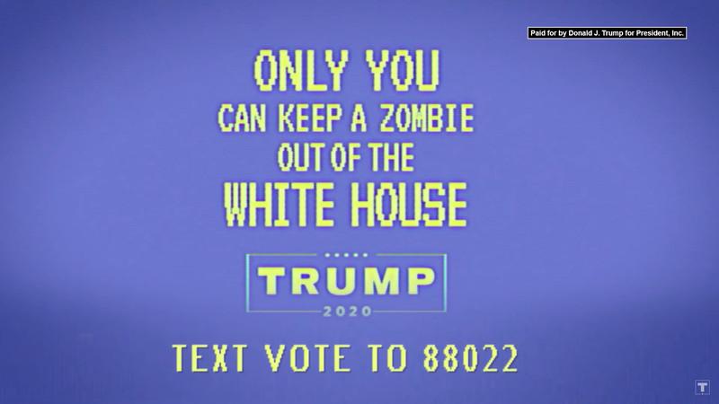 A screenshot of a Donald Trump ad.
