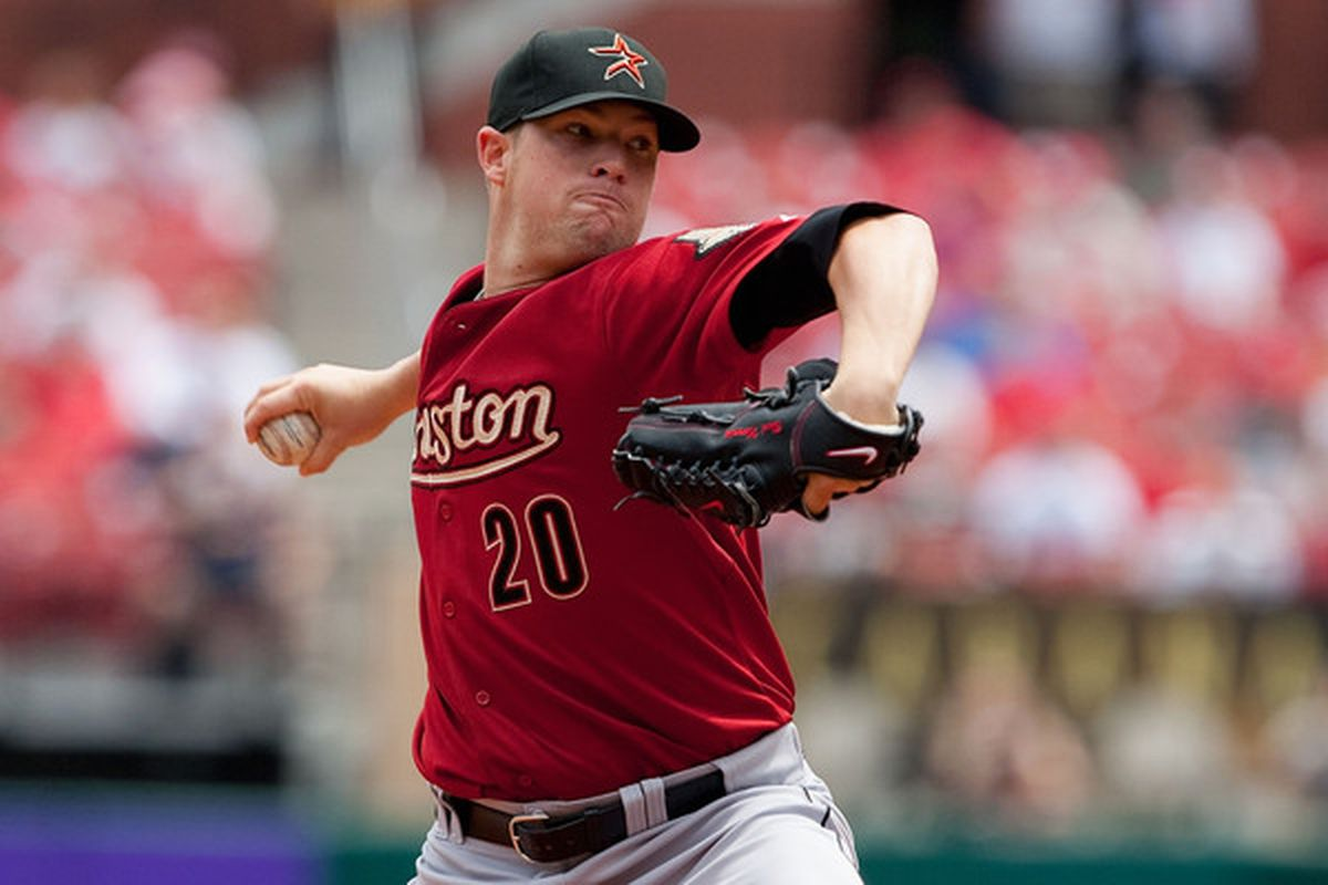 This is Bud Norris. The Cardinals still can't hit him.