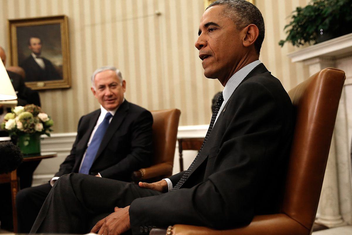 Israeli Prime Minister Benjamin Netanyahu with President Obama in 2014.