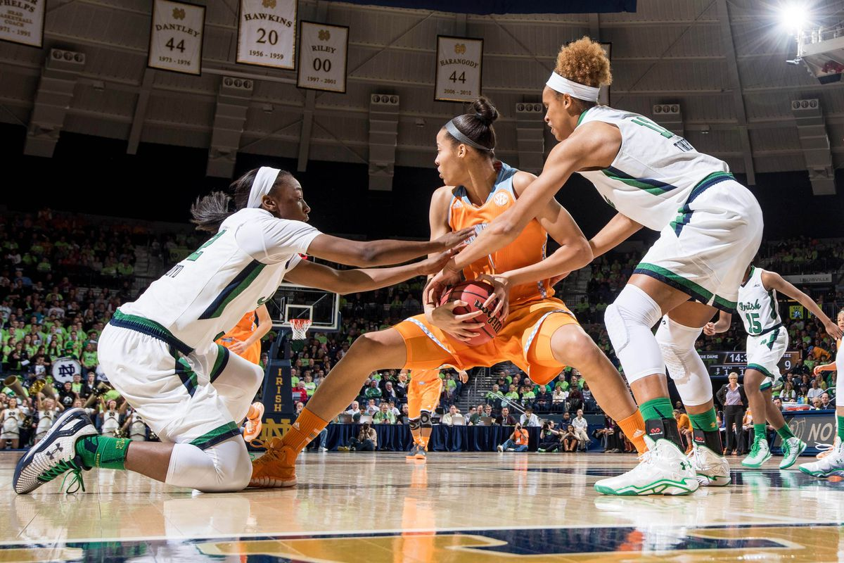 The #7 Irish women's basketball team wrestled a big win from #6 Tennessee Monday night.