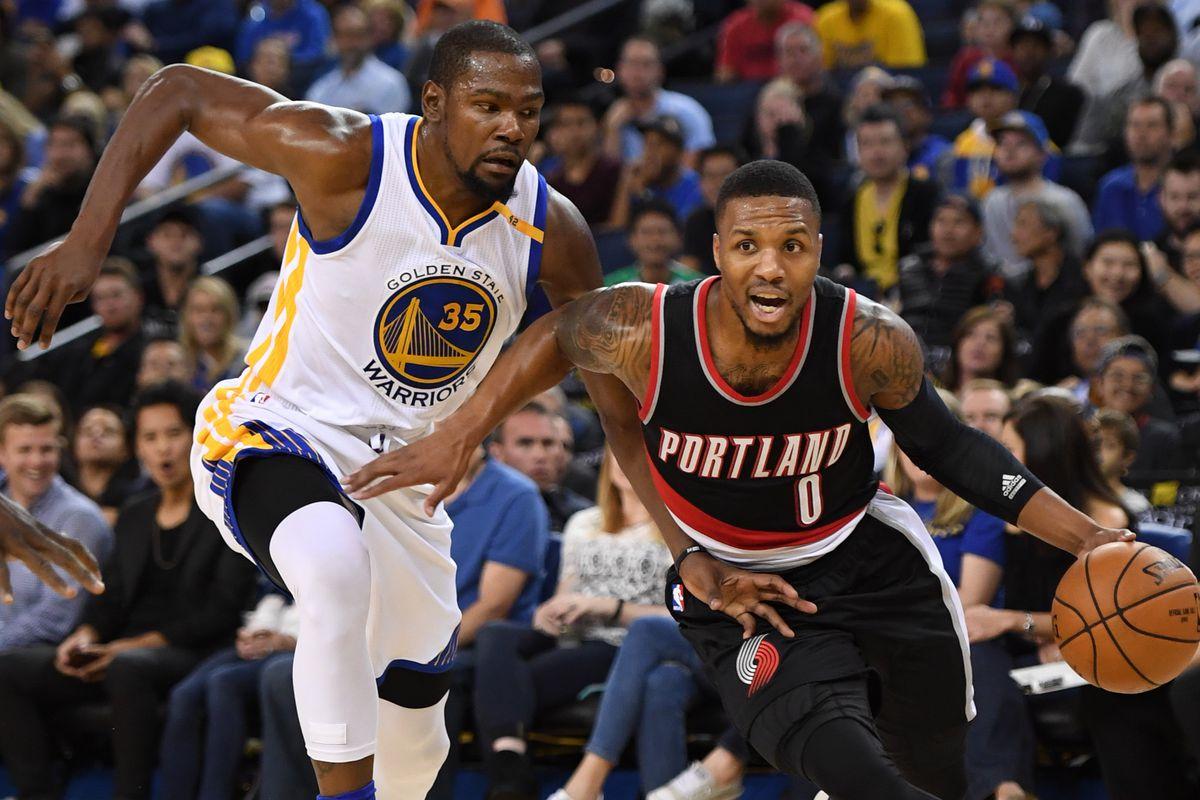 NBA: Preseason-Portland Trail Blazers at Golden State Warriors