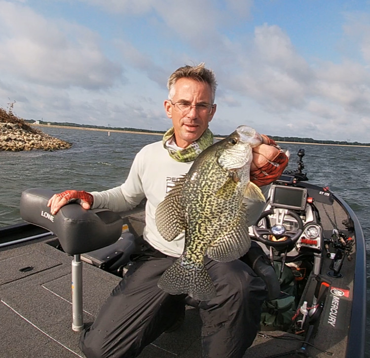 Bob Johnson with a fine crappie from Heidecke Lake. Provided photo