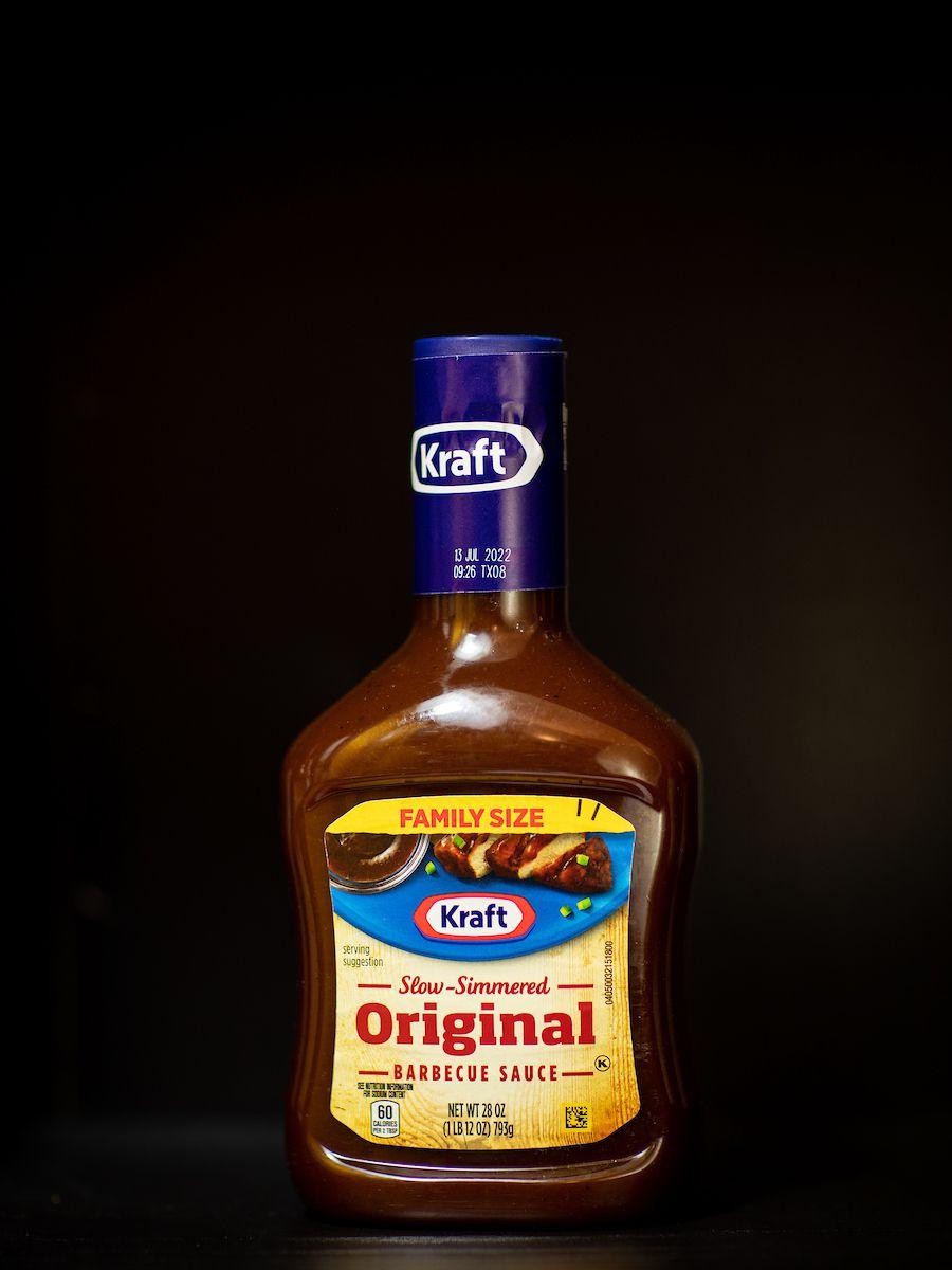 A bottle of Kraft original barbecue sauce