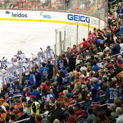 Rangers and Their Fans Celebrate