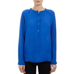 """<b>Vince</b> silk blouse, <a href=""""http://www.barneyswarehouse.com/vince.-pleat-back-crepe-de-chine-blouse-503171128.html?index=7&cgid=clearance-whswclothing"""">$79.50</a>"""
