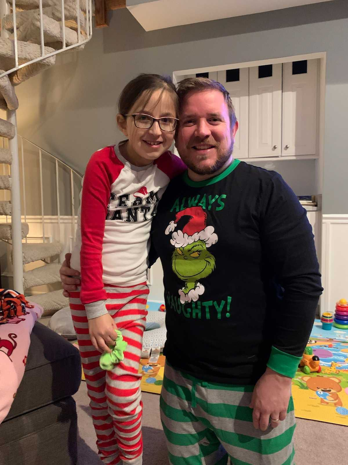 Brian Donnelly, shown with daughter Olivia at the family's Naperville home.