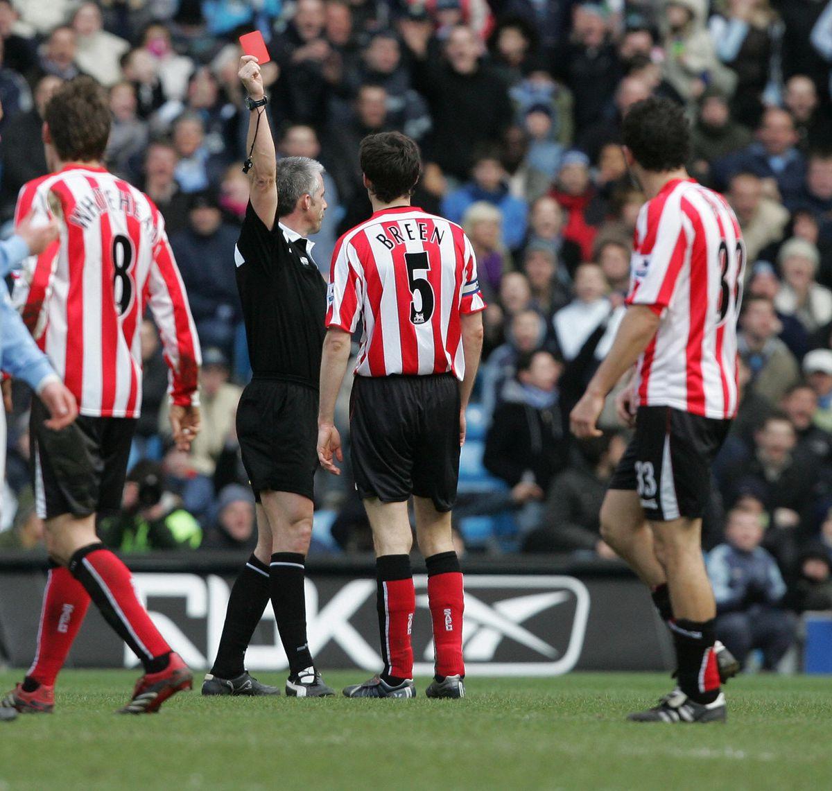 Sunderland's captain Gary Breen is shown