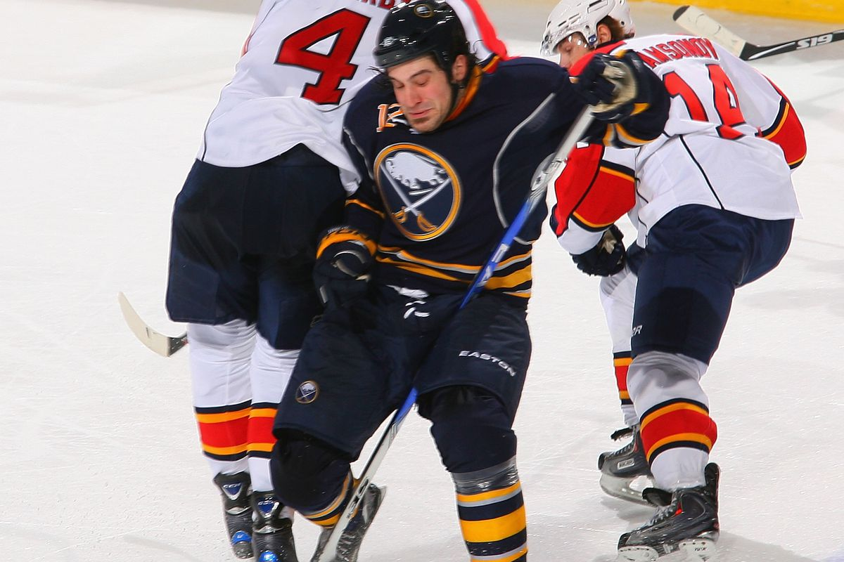 Mark Mancari (in Sabres garb) scored against the Barons and Wild this week.