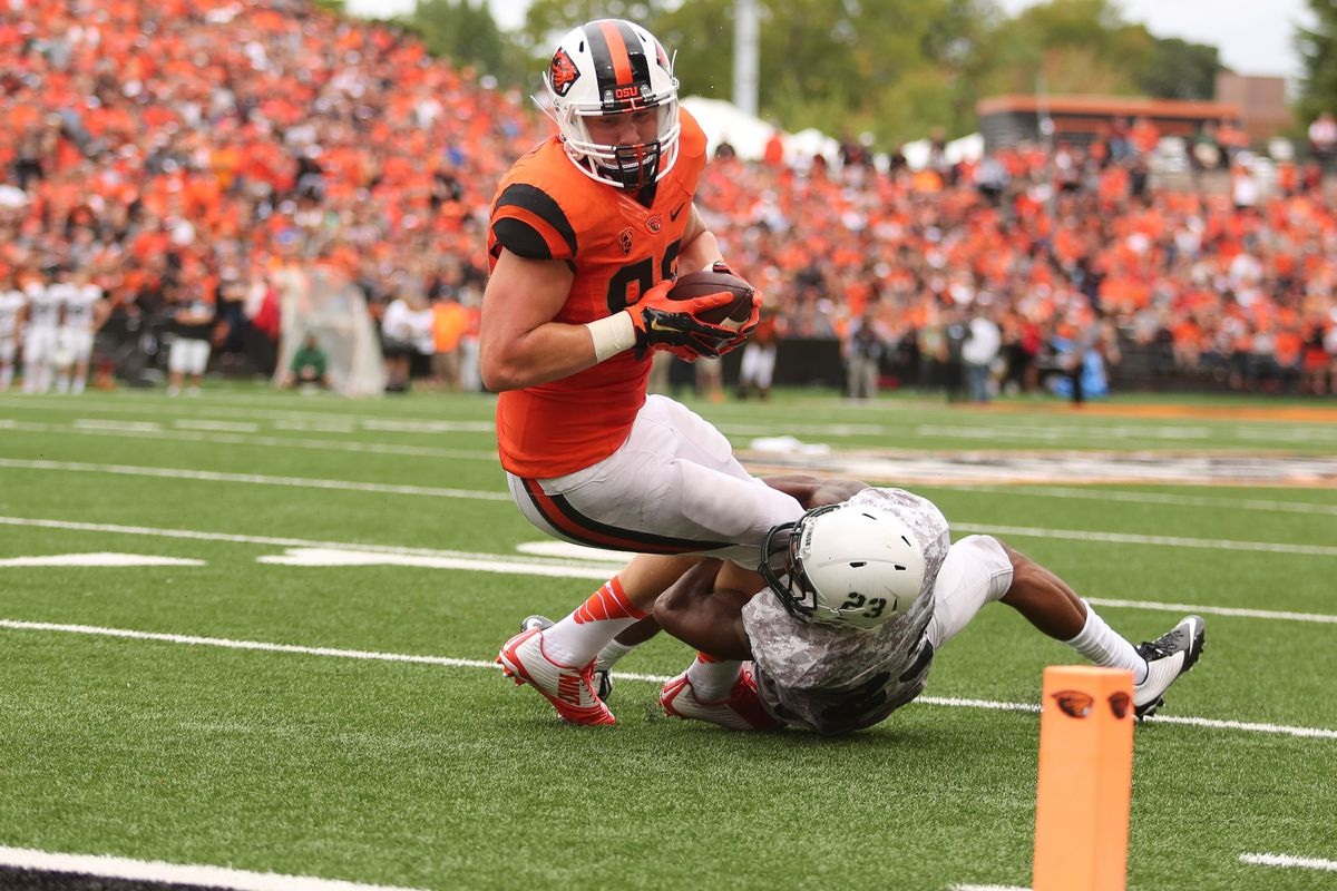 For most of the game it was so close but yet so far for the Beavers in the red zone, but Oregon State does hold on to win its 2014 opener