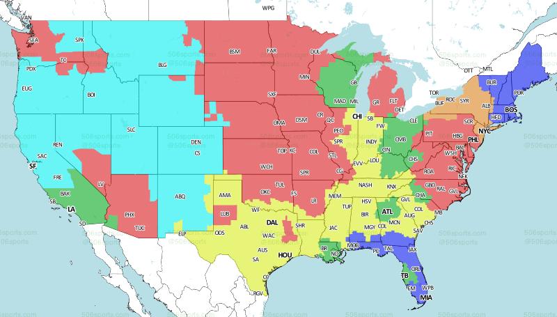 Buffalo Bills vs. New York Jets: television broadcast map ...