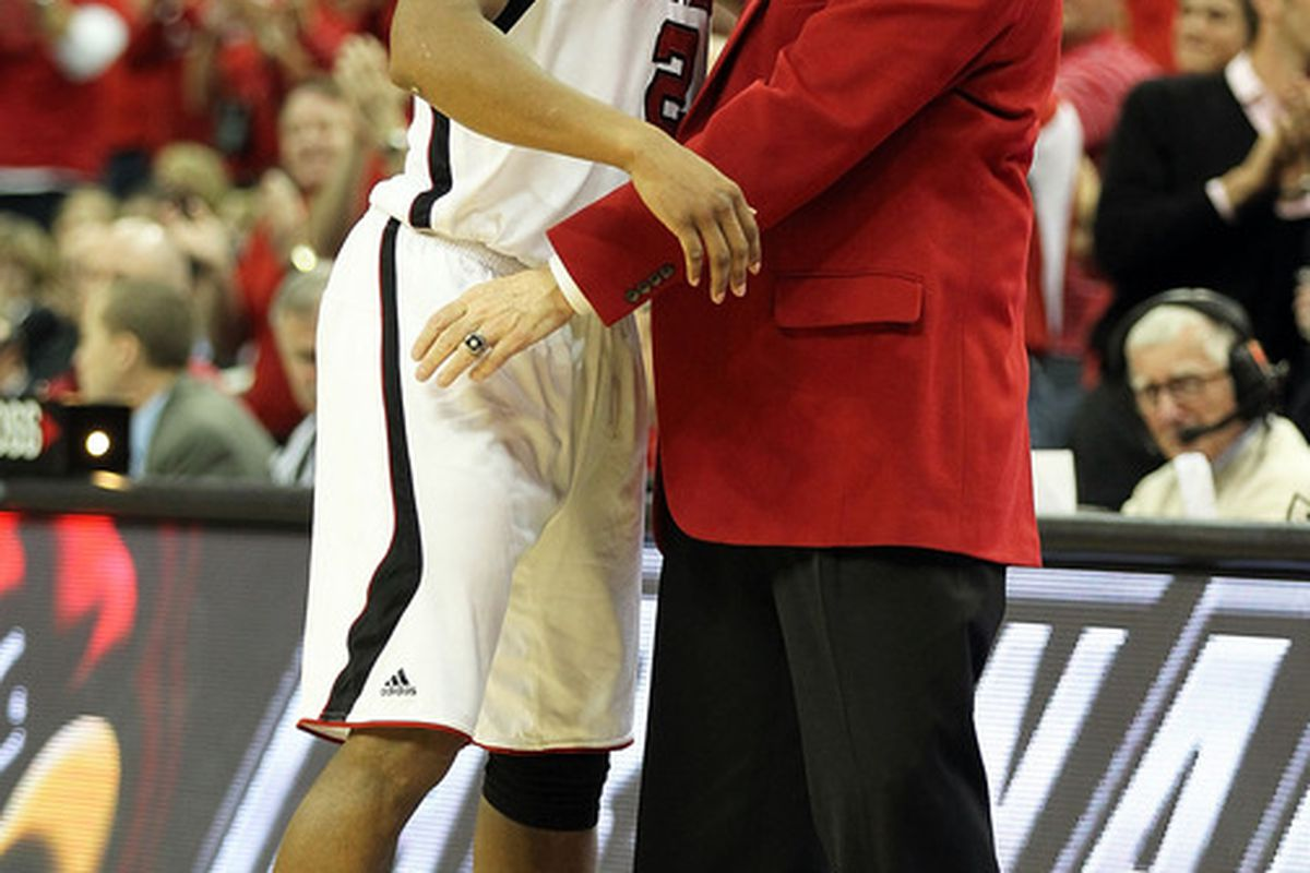 Whatever he does, I'm hoping Rick Pitino does not choose to go with this hideous red jacket tonight.