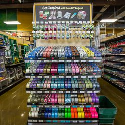 Crafty folks will dig all the colored and patterned tapes.