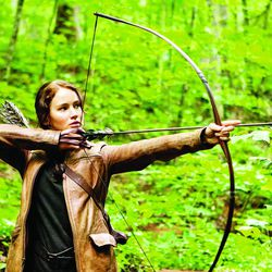 """In this image released by Lionsgate, Jennifer Lawrence portrays Katniss Everdeen in a scene from """"The Hunger Games,"""" opening on Friday, March 23, 2012."""