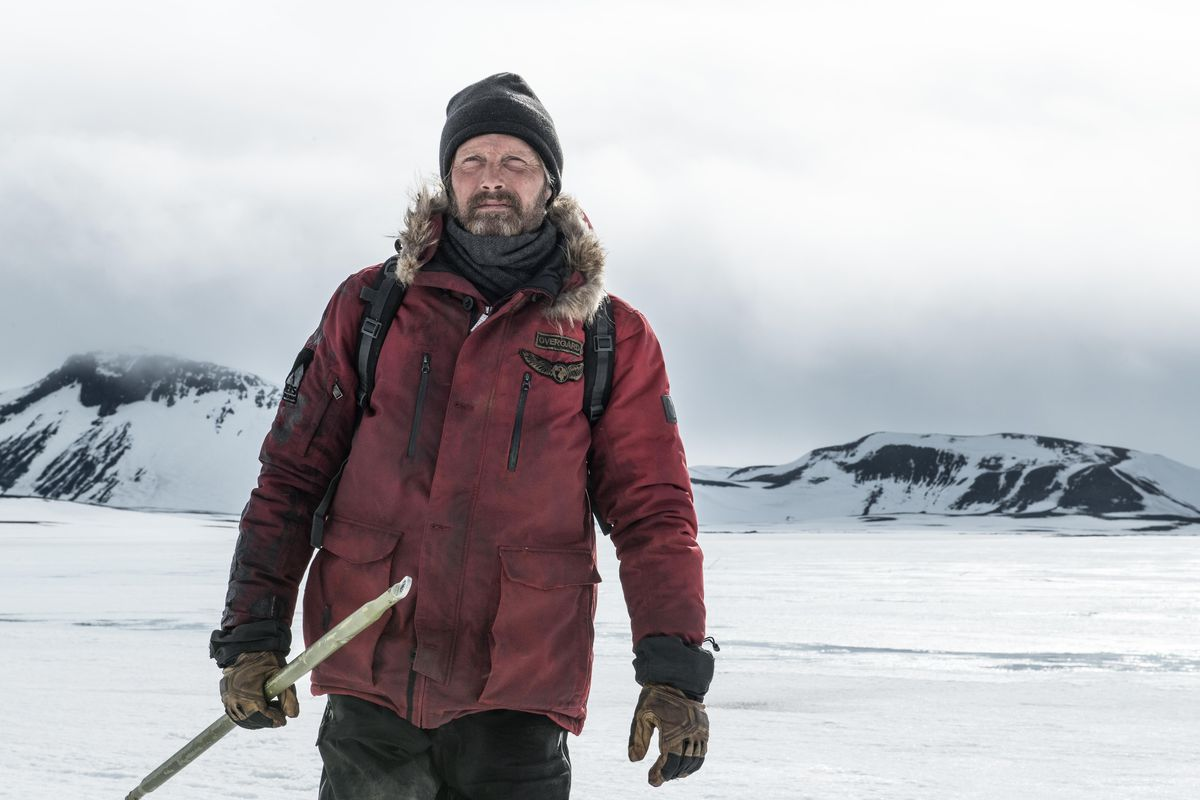 Mads Mikkelsen stars as a stranded and determined man in Arctic