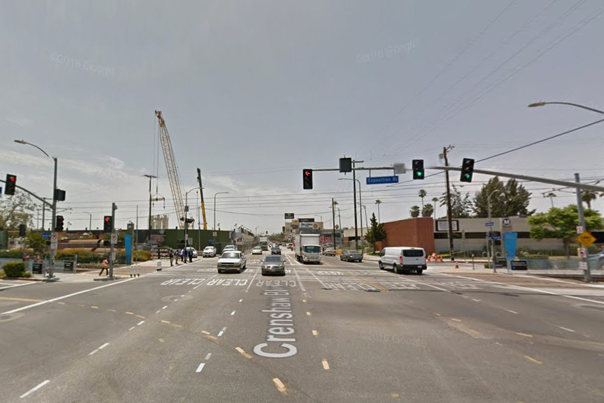 Site of Expo/Crenshaw Station