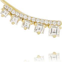 """Jemma Wynne 18-karat gold and diamond earring, <a href=""""http://www.net-a-porter.com/product/506242/Jemma_Wynne/18-karat-gold-diamond-earring"""">$5,650</a> (sold individually)"""
