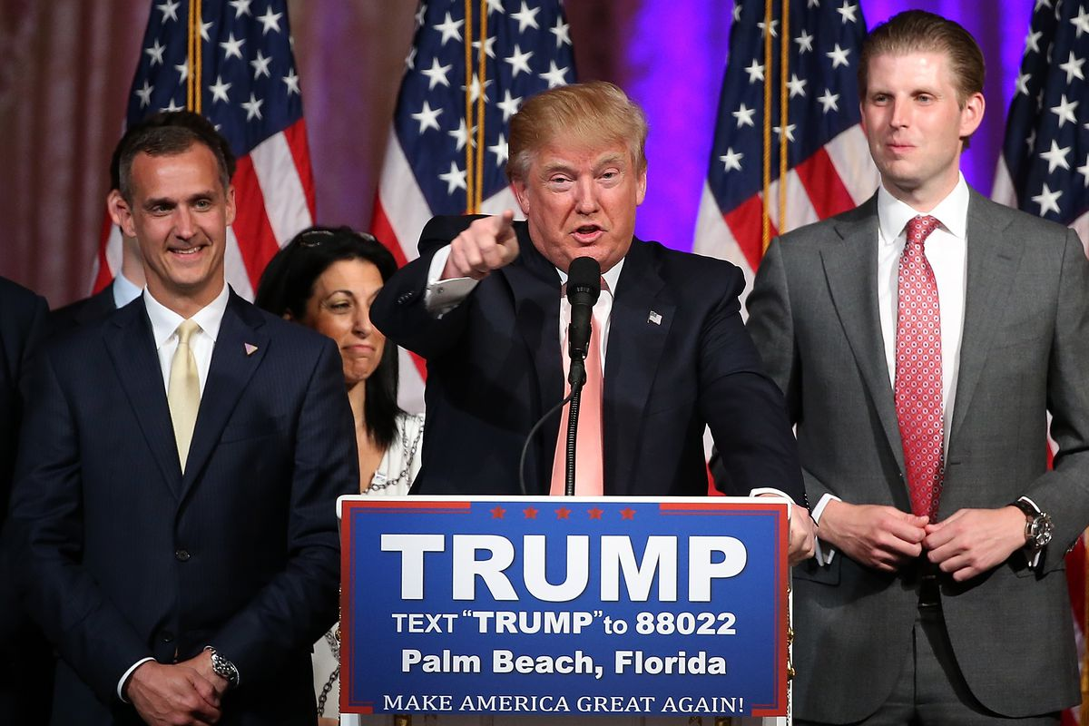Corey Lewandowski (L) with Donald Trump.