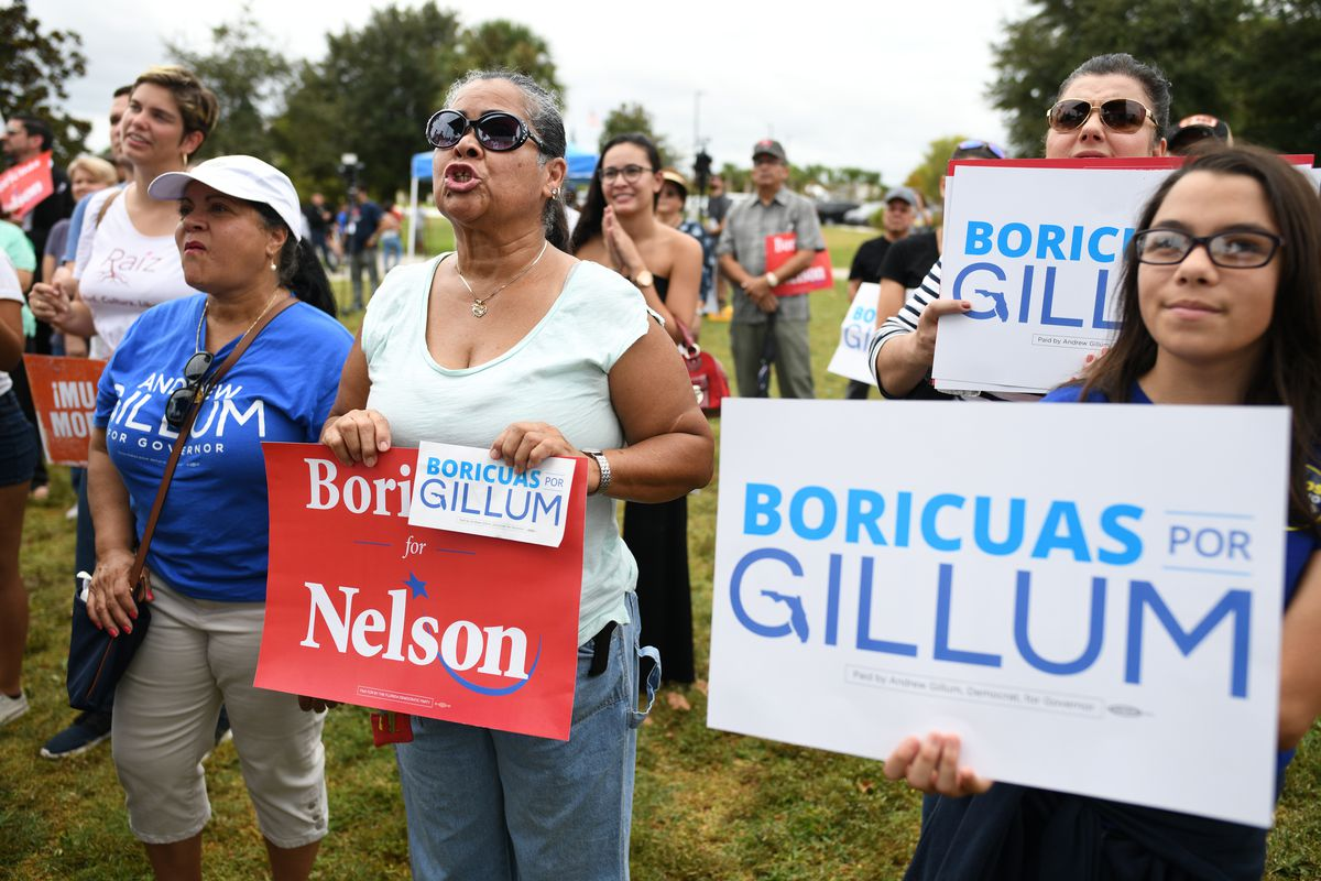 Florida Democratic Candidates And Supporters Hold March To The Polls In Kissimmee