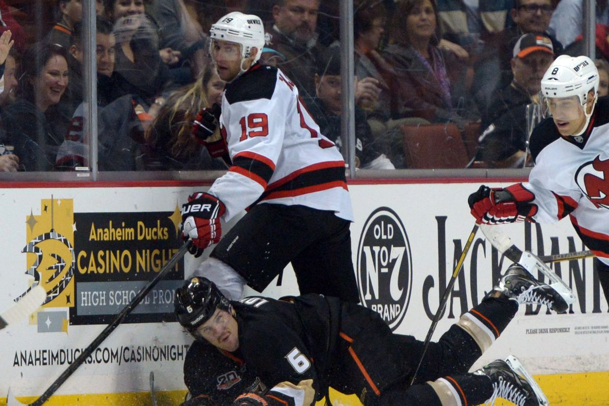 It'll be a battle, possibly along the boards, between New Jersey and Anaheim tonight.