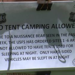 Several campsites in Maple Canyon, in Sanpete County, after a bear was sighted in the area. Wildlife managers remind campers to keep their site clean and to put food away so bears can reach it. In Maple Canyon, in the Manti-La Sal National Forest, Monday, June 12, 2017.