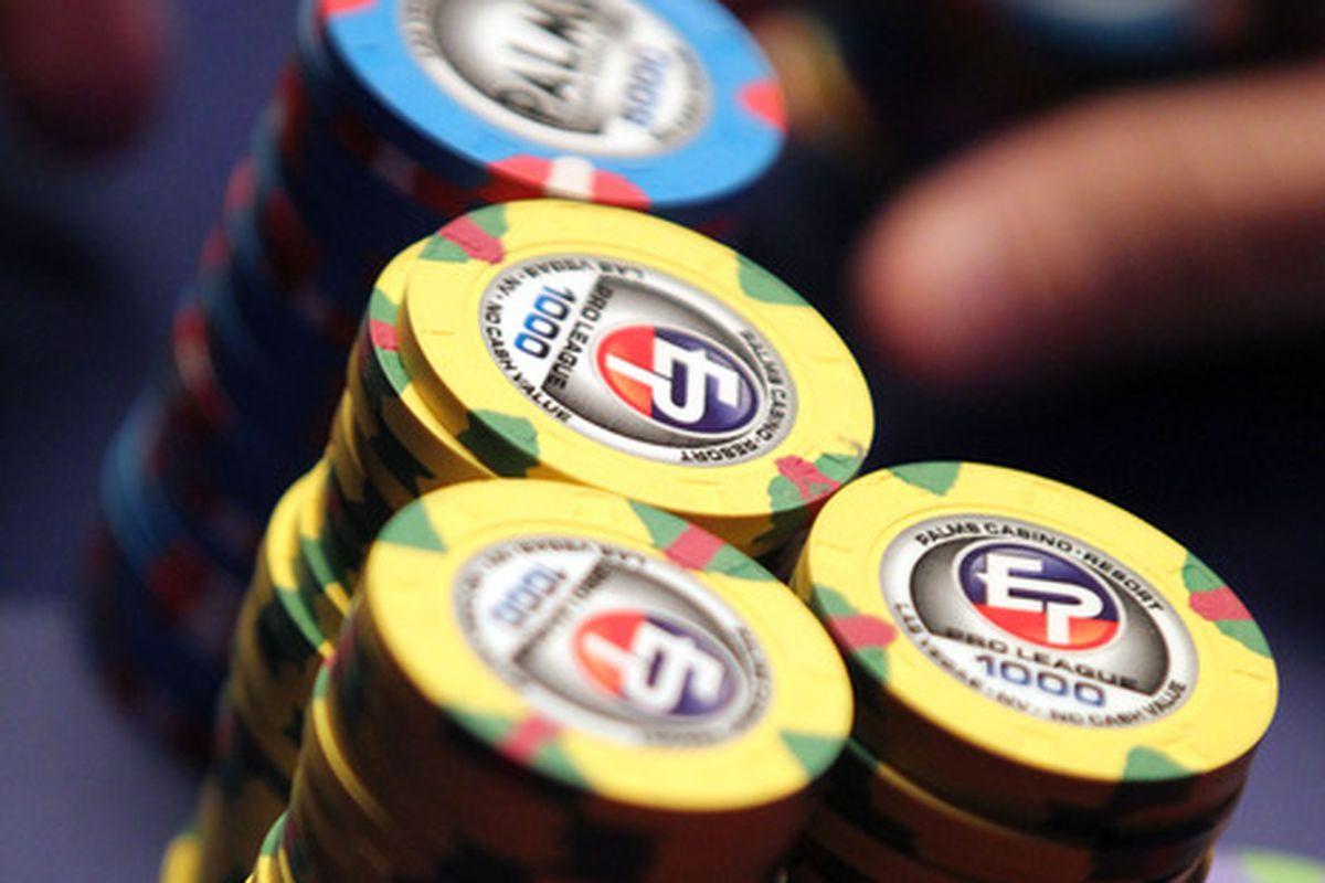 Gambling involves chips, unless it involves cash.