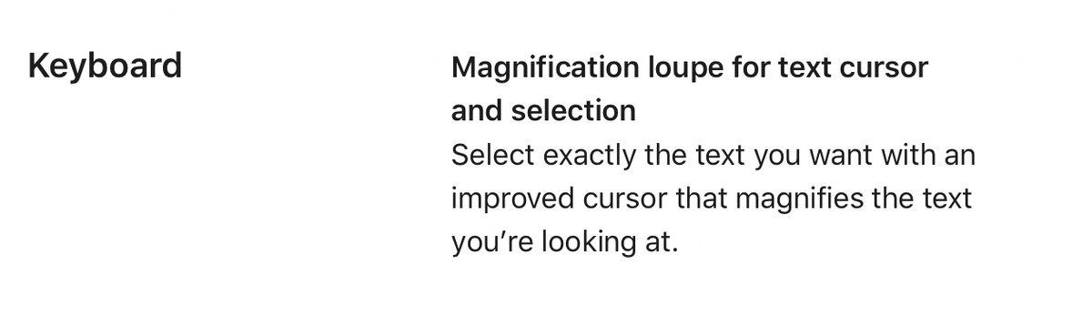 Apple brought back the beloved magnifying glass for selecting text in iOS 15