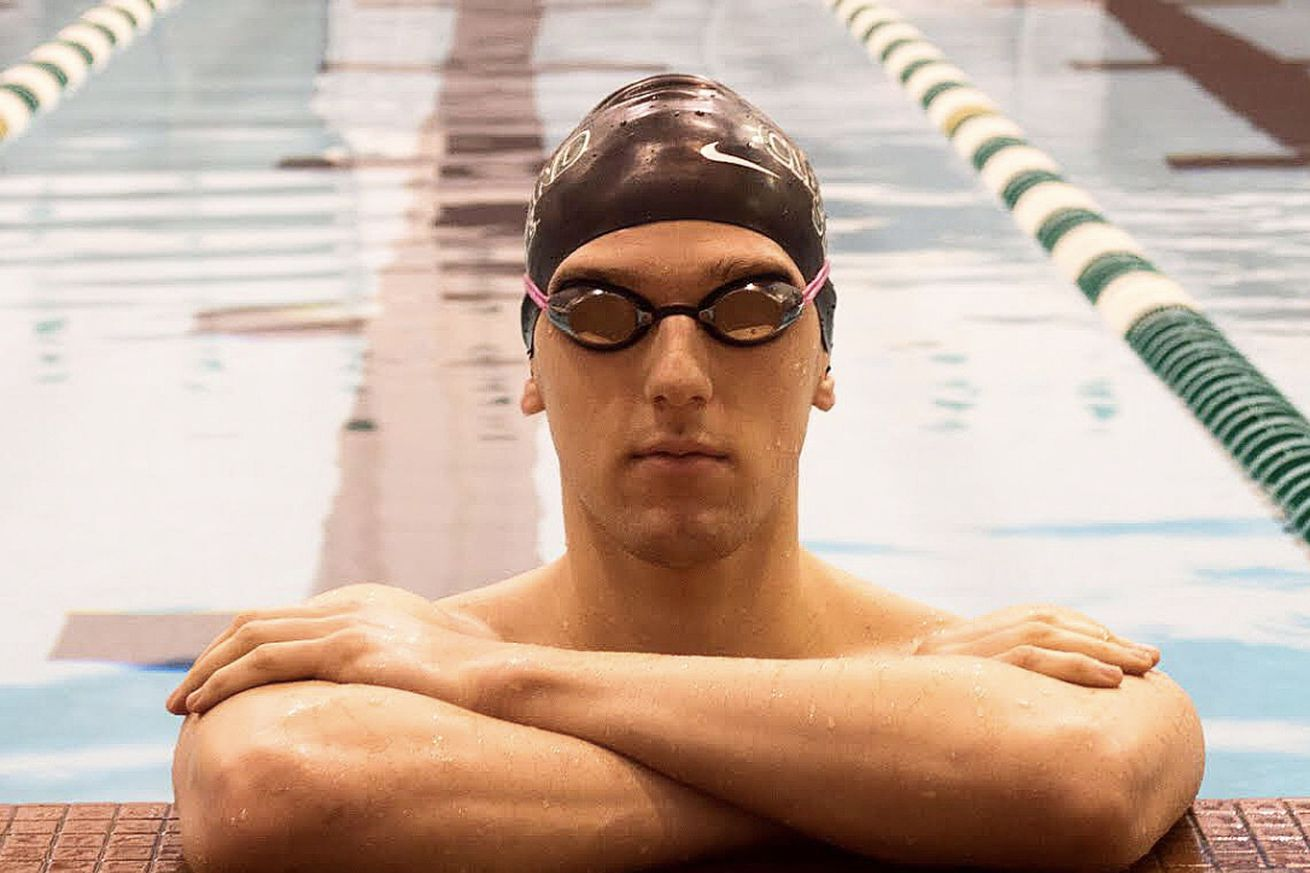 MacJilton Lewis in the pool