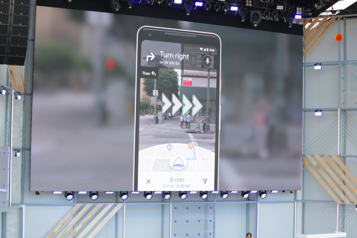 Google's AR walking directions come to Pixel phones today