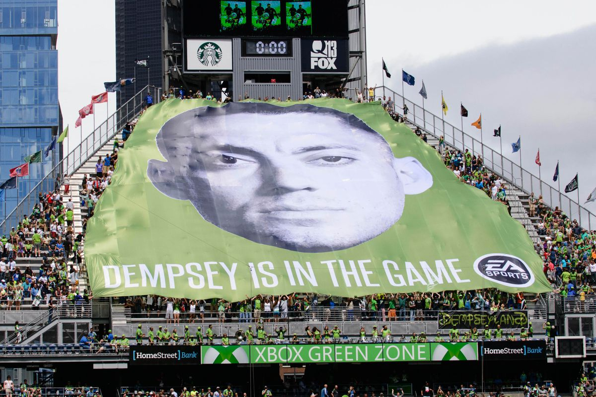 Because having a big corporation and your front office pay for a giant, professionally done tifo means you're the bestest fans in the league, right?