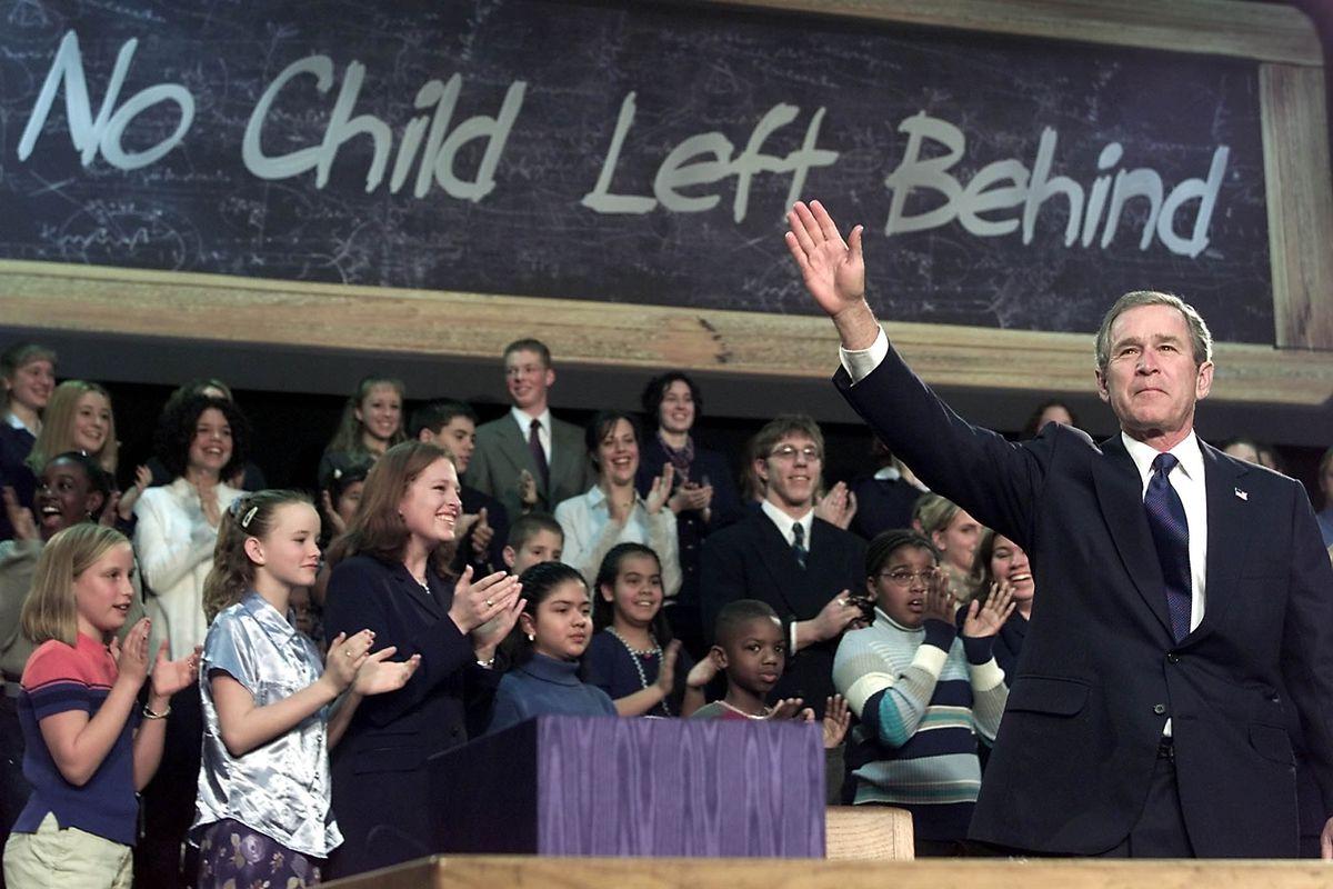 Bush at NCLB signing