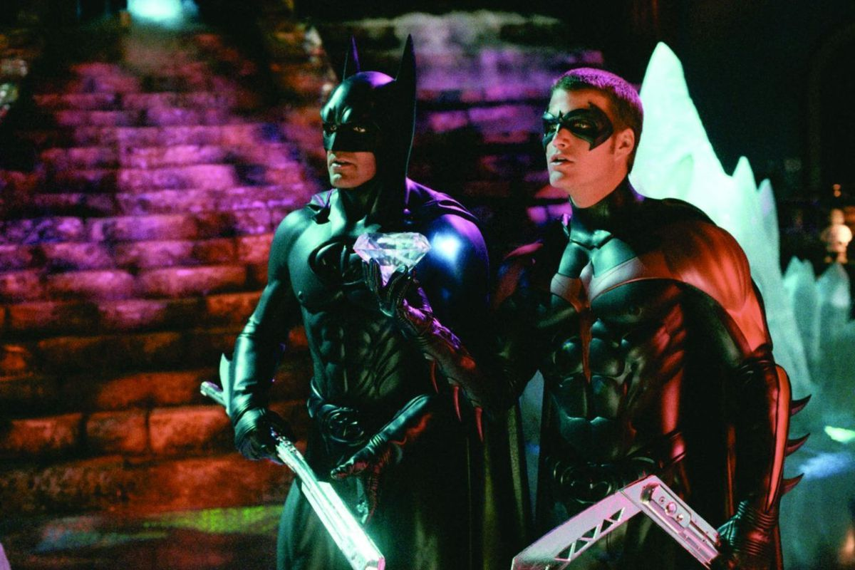 """George Clooney, left, and Chris O'Donnell in a scene from the film """"Batman & Robin."""""""