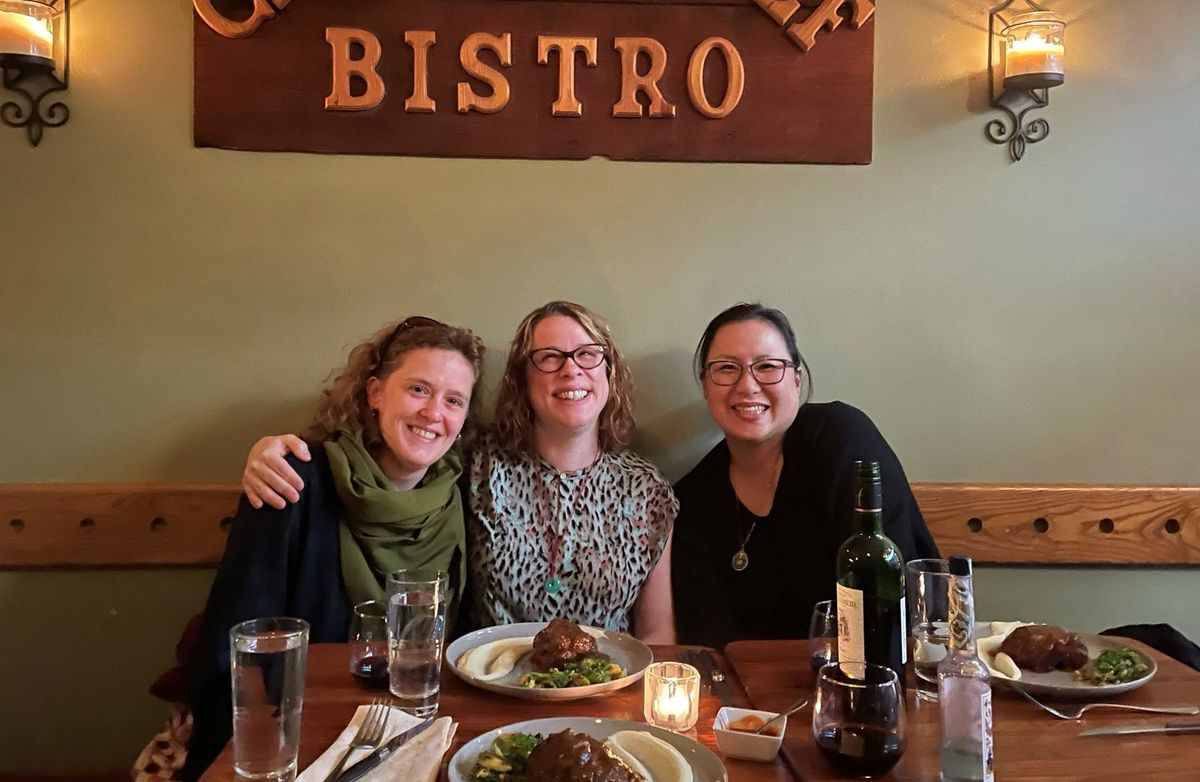 (Left to Right) A portrait of Amber Decker, Rachel Ford and Jennifer Choi.