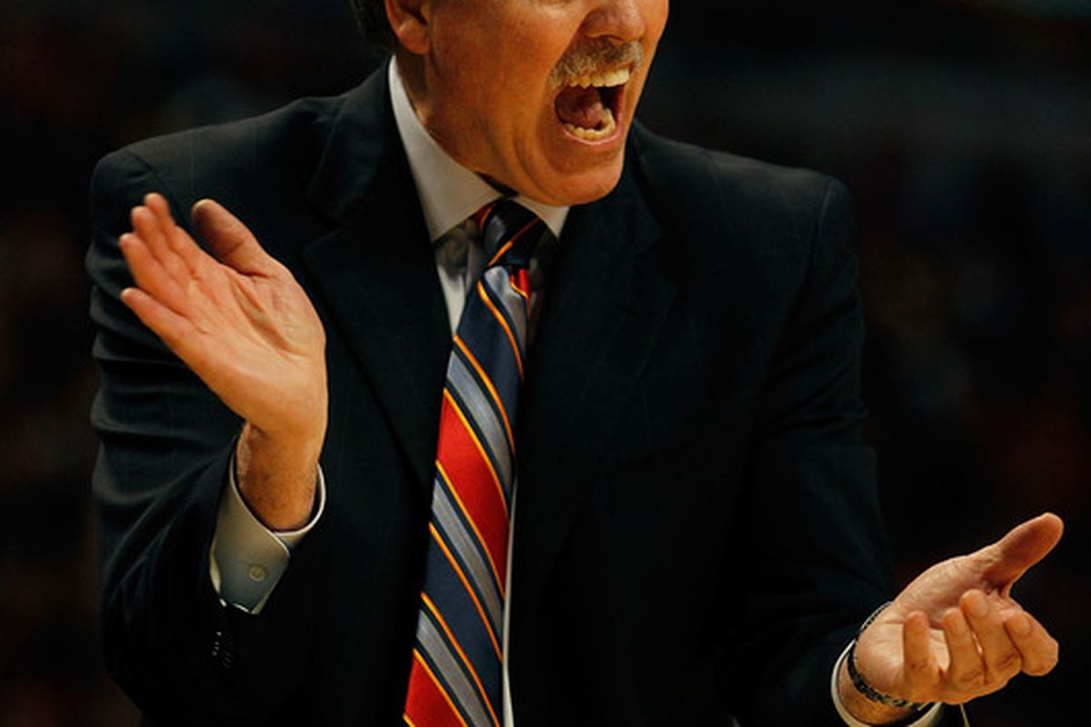 New York Knicks head coach <strong>Mike D'Antoni</strong>.  (Photo by Jonathan Daniel/Getty Images)