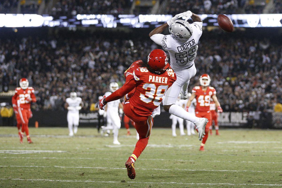 Raiders week 14 snap counts vs Chiefs Amari Cooper sees just 15