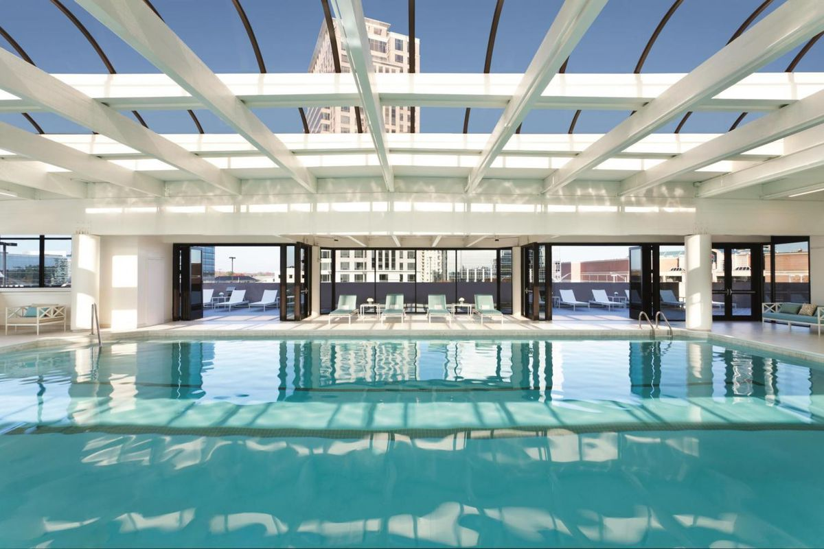 The revived indoor pool at The Whitley.