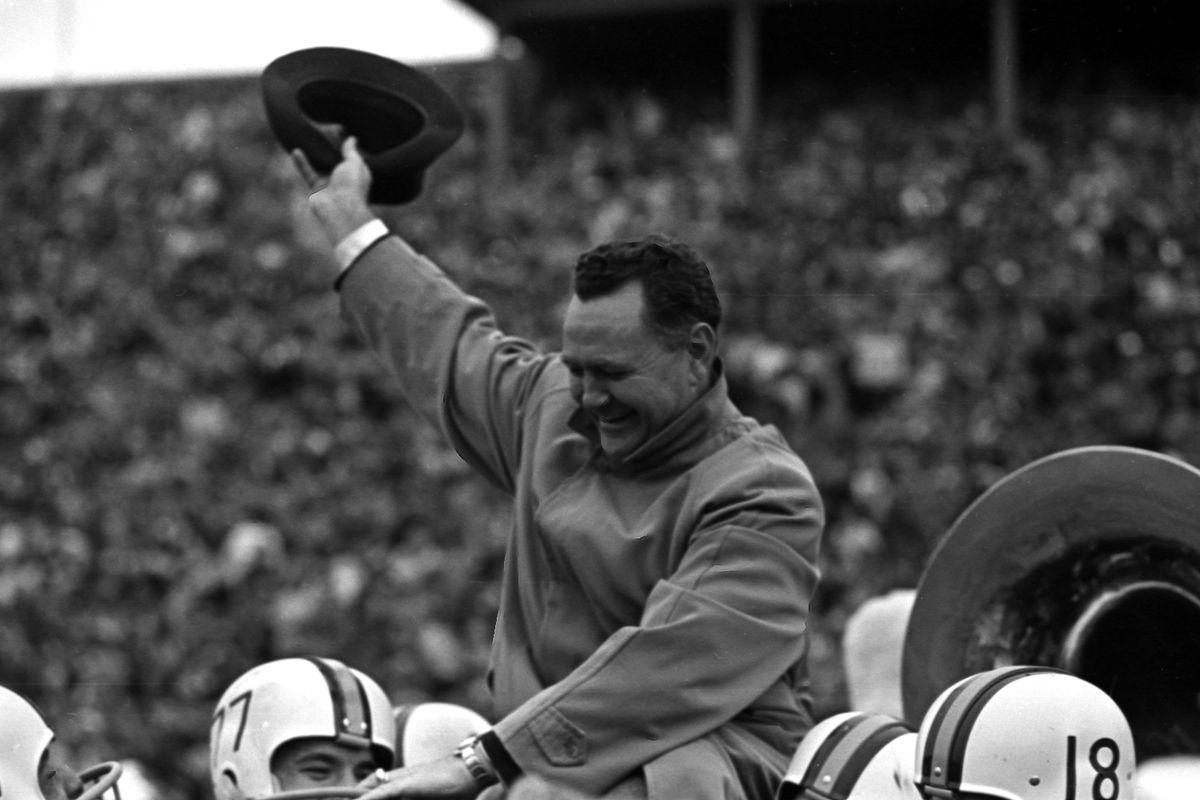 Murray Warmath Carried Off Field, 11/5/1960