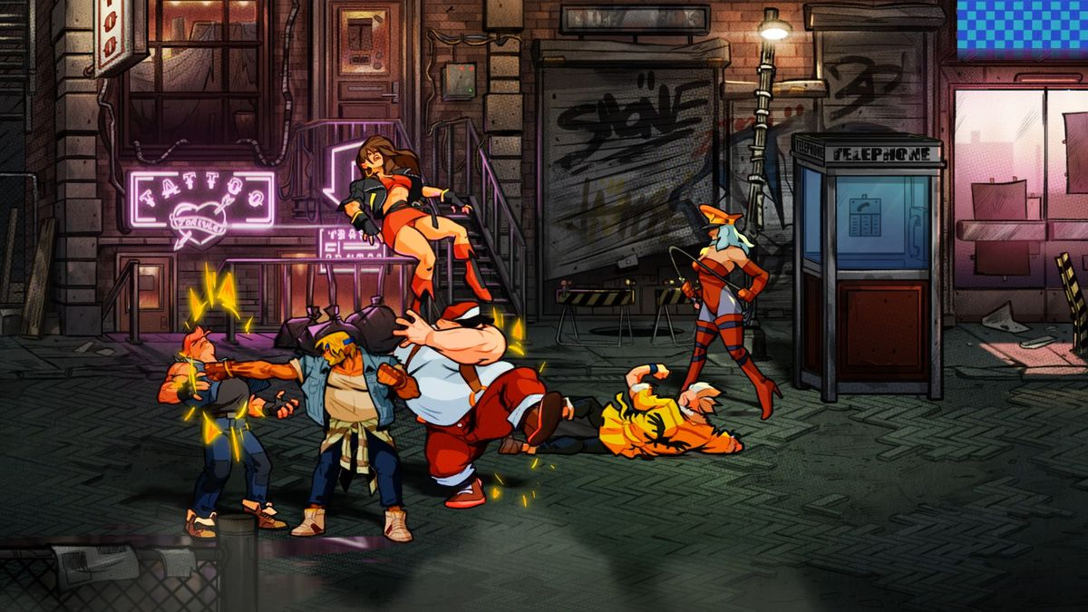 A brawl breaks out in Streets of Rage 4