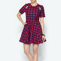 """<b>Pinkyotto</b> Houndstooth Zooey Dress, <a href=""""http://www.shoptiques.com/products/houndstooth-zooey-dress-1"""">$248</a>"""