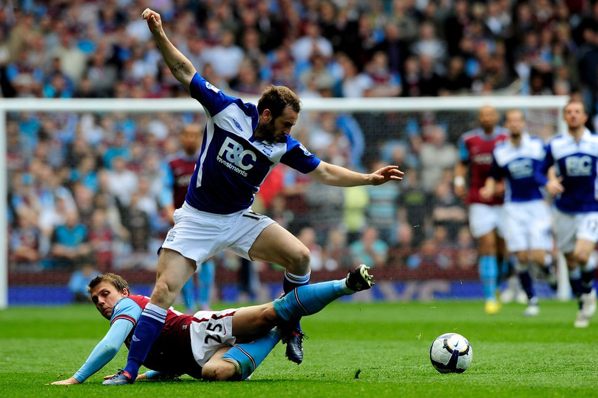 Aston Villa-Birmingham City: The Second City Derby can get a bit chippy sometimes. (Photo by Jamie McDonald/Getty Images)