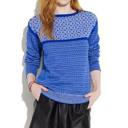 """<b> Le Mont St. Michel</b> Fair Isle Sweater, <a href=""""http://www.madewell.com/madewell_category/SWEATERS/pullovers/PRDOVR~21939/21939.jsp"""">$335</a> at Madewell"""