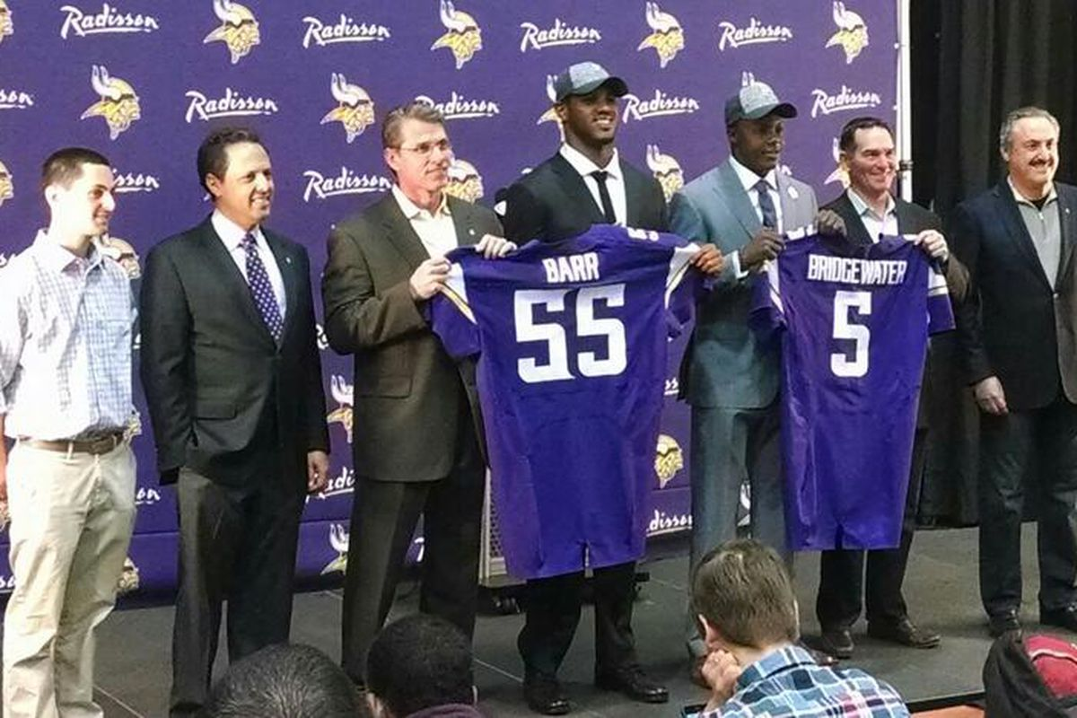 Welcome to Minnesota, Anthony Barr and Teddy Bridgewater!