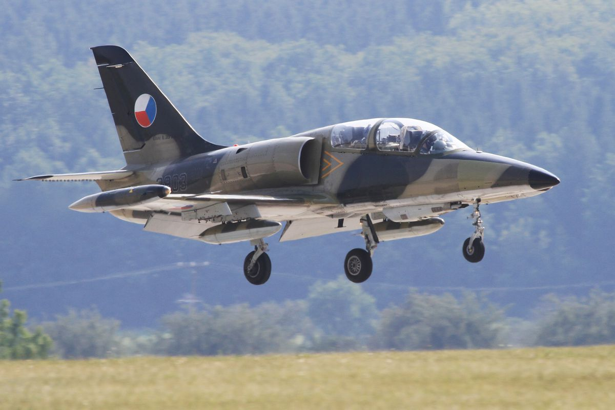 A Czech combat aircraft takes part in NATO exercises.