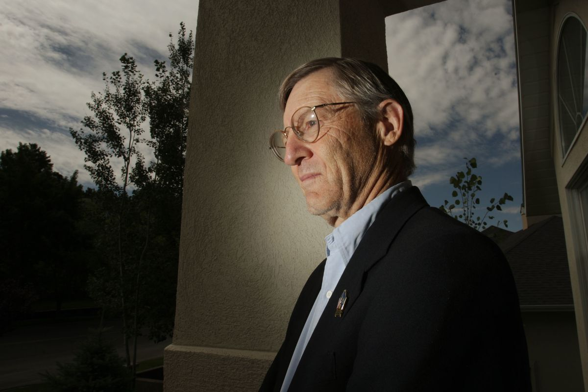FILE - Ronald Mortensen at his home in Bountiful, Utah, Wednesday, July 14, 2010. Mortensen is an advocate protecting people from identity theft by illegal immigrants.