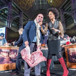 Jose Andres, Carla Hall, and a bunch of meat.
