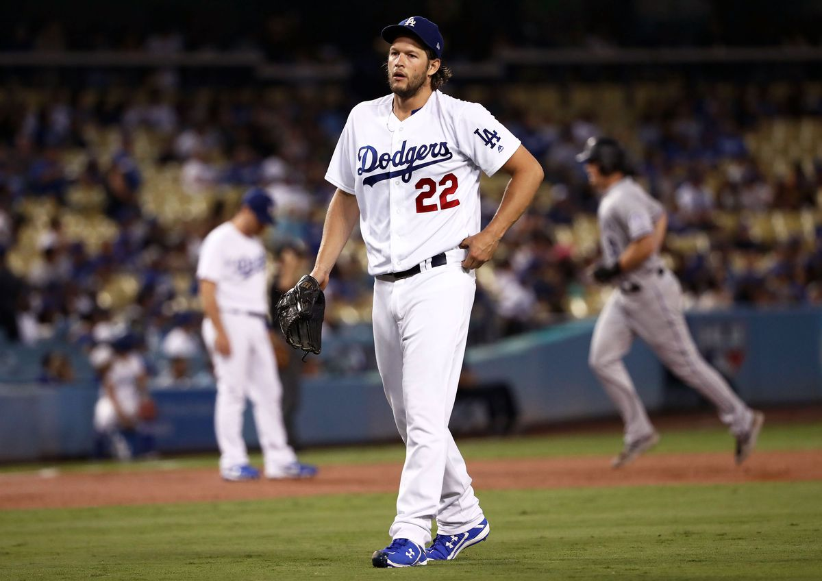 Clayton Kershaw looking disappointed