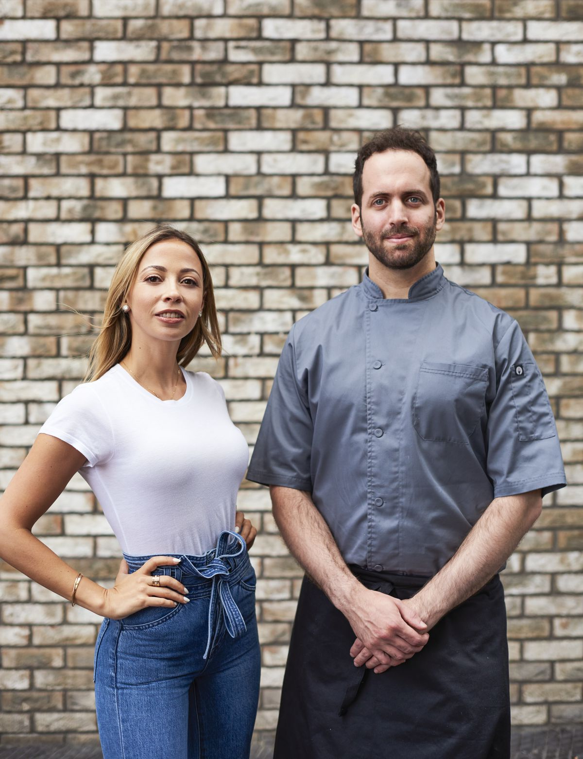 Founder Victoria Paltina and head chef Oren King at Haya in Notting Hill, a new restaurant inspired by Tel Aviv